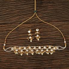 350759 Kundan Classic Necklace With Gold Plating