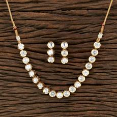 350760 Kundan Classic Necklace With Gold Plating