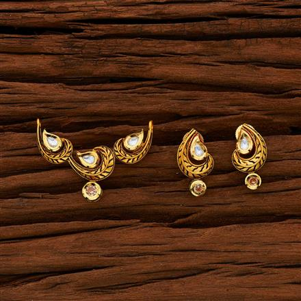 40004 Kundan Classic Mangalsutra with gold plating