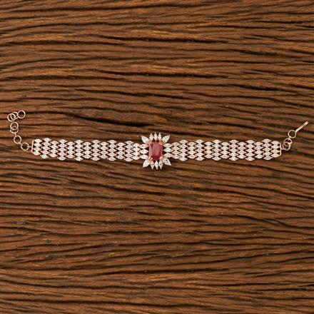 400084 Cz Classic Bracelet with rose gold plating