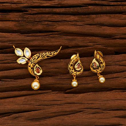 40008 Kundan Classic Mangalsutra with gold plating