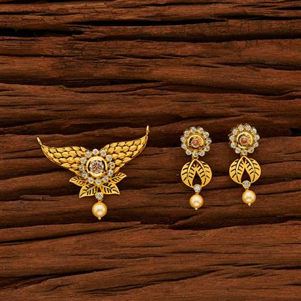 40009 Kundan Classic Mangalsutra with gold plating
