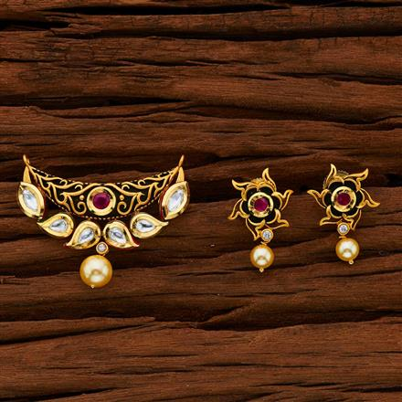 40010 Kundan Classic Mangalsutra with gold plating