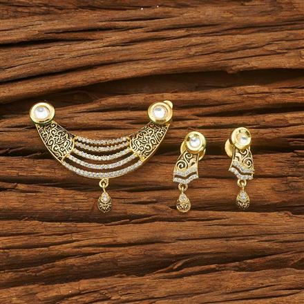 40040 Kundan Classic Mangalsutra with gold plating