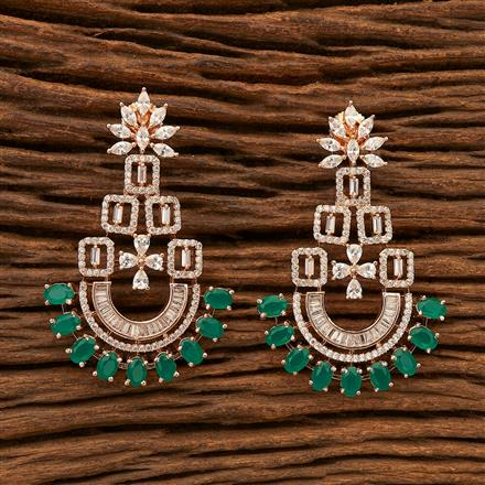 400800 Cz Classic Earring with Rose Gold plating
