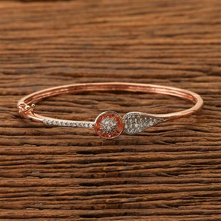 400888 Cz Delicate Kada with Rose Gold plating