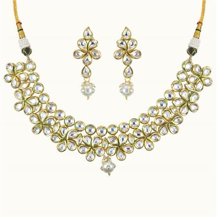 40088 Kundan Classic Necklace with gold plating