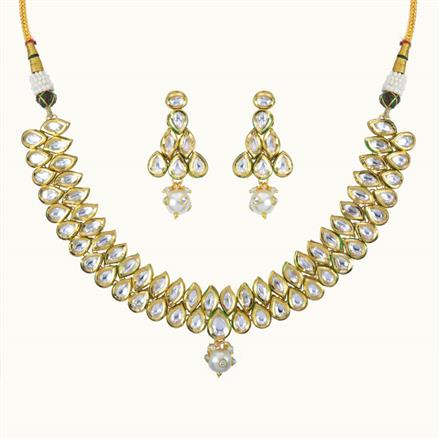 40095 Kundan Classic Necklace with gold plating