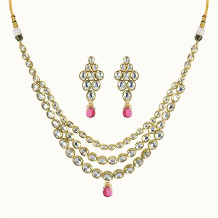 40098 Kundan Classic Necklace with gold plating