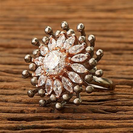 401018 Designer Classic Ring with Black Rose  plating