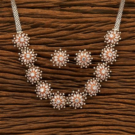 401024 Designer Classic Necklace with Rose Gold plating