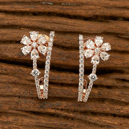 401211 Cz Balis with Rose Gold plating