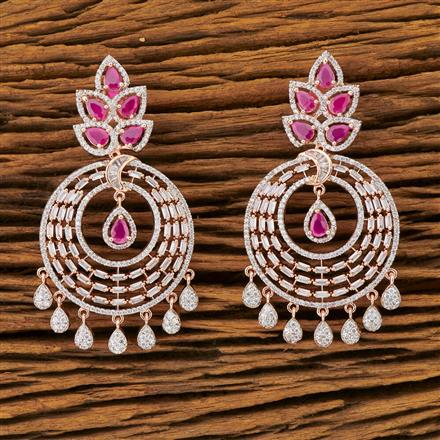 401441 Cz Classic Earring with Rose Gold plating