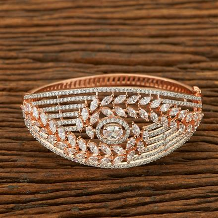 401450 Cz Classic Kada with Rose Gold plating