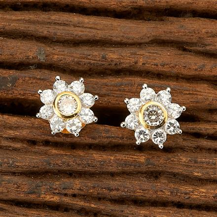 401489 Cz Tops with 2 Tone plating
