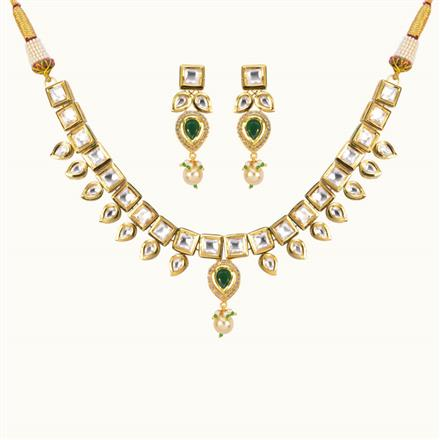 40171 Kundan Classic Necklace with gold plating