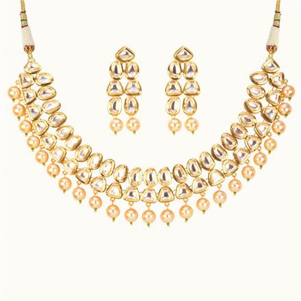 40181 Kundan Classic Necklace with gold plating