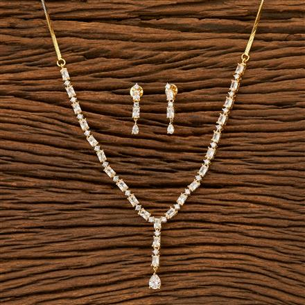 401920 Cz Classic Necklace with 2 Tone plating