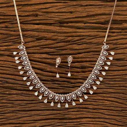 401923 Cz Classic Necklace with Rose Gold plating