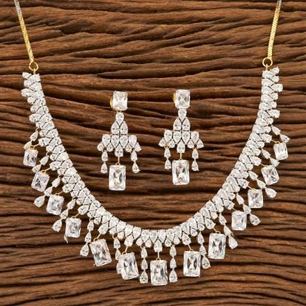 402062 Cz Classic Necklace with 2 Tone plating