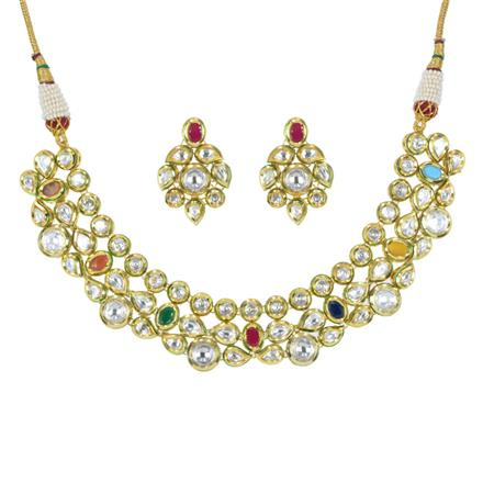 40236 Kundan Classic Necklace with gold plating