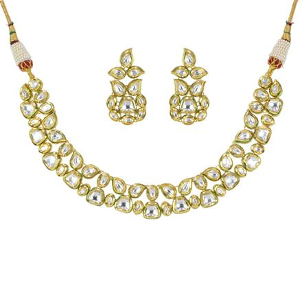 40237 Kundan Classic Necklace with gold plating