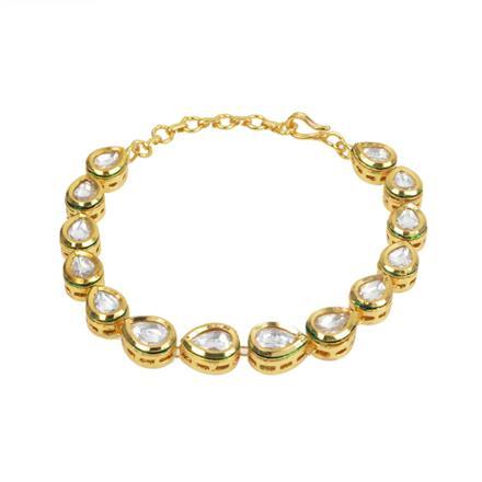40242 Kundan Delicate Bracelet with gold plating