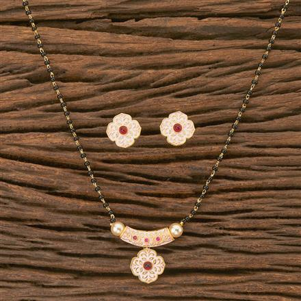 402636 Cz Delicate Mangalsutra with gold plating
