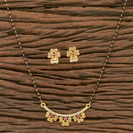 402640 Cz Delicate Mangalsutra with gold plating