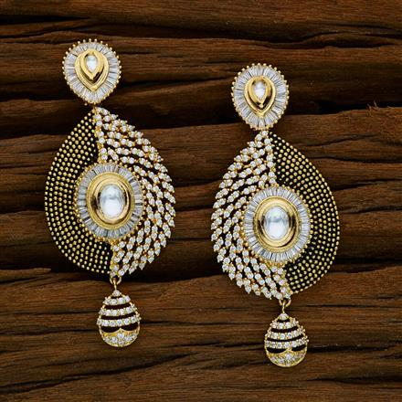 40266 Kundan Classic Earring with gold plating