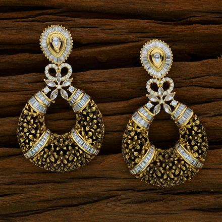 40267 Kundan Classic Earring with gold plating