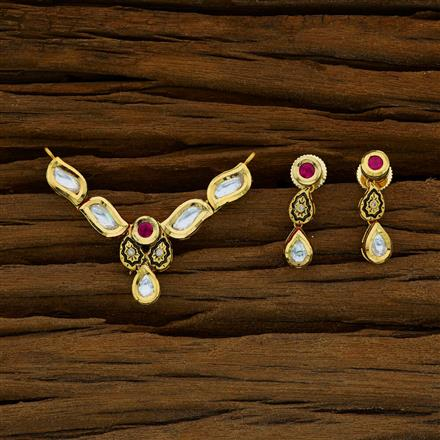 40268 Kundan Classic Mangalsutra with gold plating
