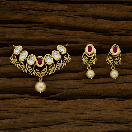 40269 Kundan Classic Mangalsutra with gold plating