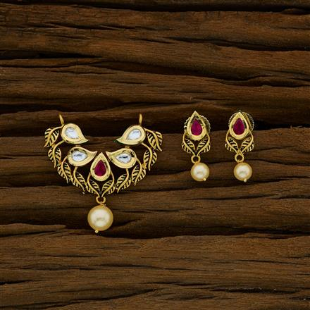 40270 Kundan Classic Mangalsutra with gold plating