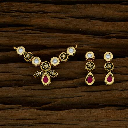 40271 Kundan Classic Mangalsutra with gold plating