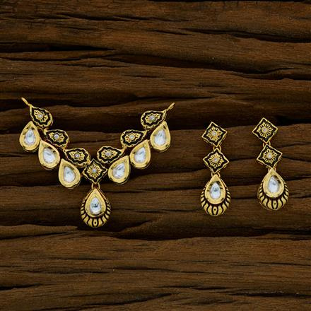 40272 Kundan Classic Mangalsutra with gold plating