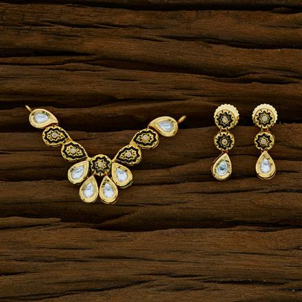 40273 Kundan Classic Mangalsutra with gold plating