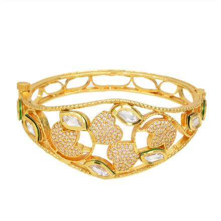 40290 Kundan Classic Kada with gold plating