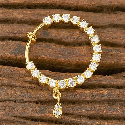 402910 Cz Classic Nose Ring with gold plating