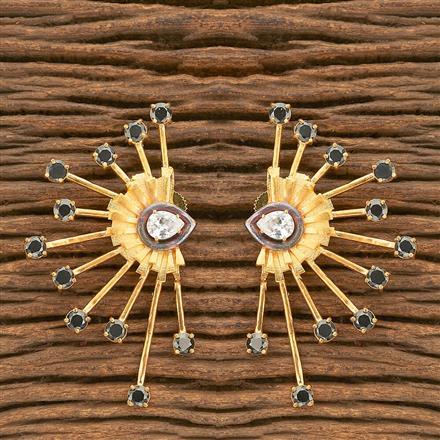 402919 Designer Short Earring with gold plating