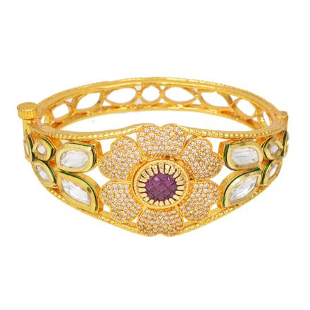 40291 Kundan Classic Kada with gold plating