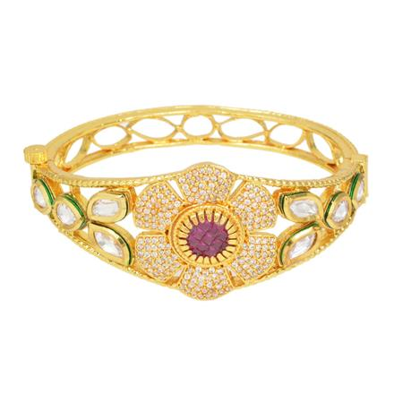 40292 Kundan Classic Kada with gold plating