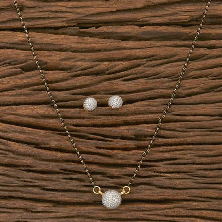 402995 Cz Classic Mangalsutra with 2 Tone plating
