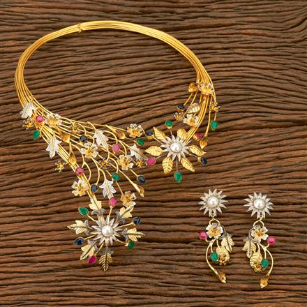 403059 Designer Trendy Necklace with gold plating