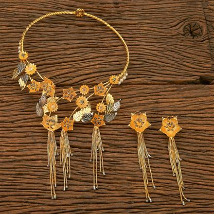 403060 Designer Trendy Necklace with gold plating