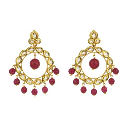 40311 Kundan Classic Earring with gold plating