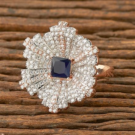 403220 Cz Classic Ring with rose gold plating
