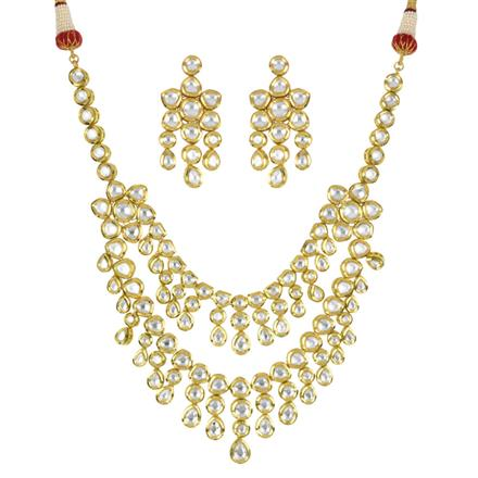 40322 Kundan Classic Necklace with gold plating