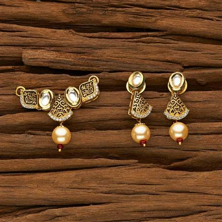40332 Kundan Classic Mangalsutra with gold plating