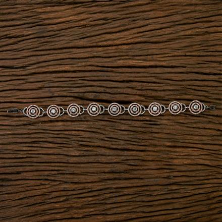 403397 Cz Classic Bracelet with Black Rose plating